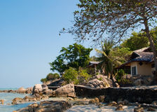 Bungalow with sea view Royalty Free Stock Image