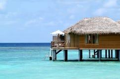 Bungalow sui Maldives Immagini Stock