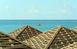 Bungalow sulla spiaggia fotografie stock libere da diritti