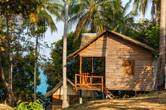 Bungalow in Thailand stockfoto
