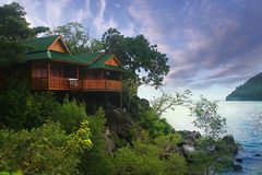Bungalow in Thailand jungle Stock Photo