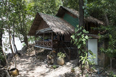 Bungalow or traditional Thai wooden house. Thailand Royalty Free Stock Photos