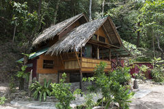 Bungalow or traditional Thai wooden house. Thailand Royalty Free Stock Image