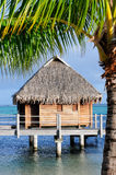 Bungalow in tropical paradise Stock Images