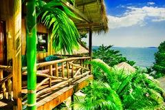 bungalow tropikalny Fotografia Royalty Free