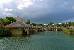 Bungalower i Riviera Maya, MEXICO Royaltyfri Fotografi