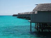 bungalowmaldives vatten Fotografering för Bildbyråer