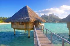 bungalowoverwater Arkivfoto