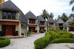 Bungalows at Bandos Island Maldives Royalty Free Stock Photo