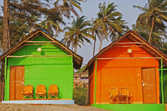 Bungalows on a Beach Stock Image