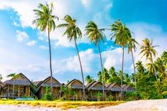 Bungalows on the beach,Ko Pha Ngan, Thailand Stock Photos