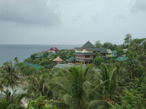 Bungalows on the beach. Royalty Free Stock Image