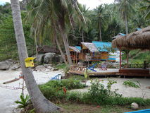 Bungalows on the beach. Royalty Free Stock Images
