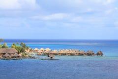 Bungalows on Bora Bora Royalty Free Stock Image