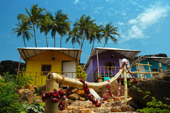 Bungalows on the Cabo de Rama Beach, Goa Stock Photos