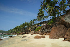 Bungalows on the Cabo de Rama Beach, Goa Stock Photography
