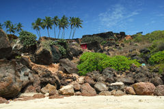 Bungalows on the Cabo de Rama Beach, Goa Stock Images