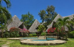 Bungalows do feriado, Kenya Foto de Stock