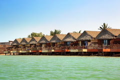 Bungalows in EL Gouna Ägypten stockbild