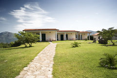 Bungalows on a hill. New bungalows build for an Italian farm holiday camp near rome Stock Photography