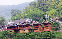 Bungalows In The Jungle In Laos Stock Images