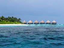 Bungalows in the Maldives Stock Images