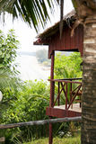 Bungalows at ocean, koh rong island, cambodia Stock Images