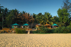 Bungalows on the Patnem Beach, Goa Royalty Free Stock Photo