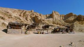 Bungalows at Red Sea, Egipt. Bamboo huts at coral beach,Red Sea, Sinai Stock Photography