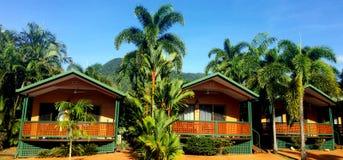 Bungalows in a resort in Cairns in Queensland  Australia Stock Images