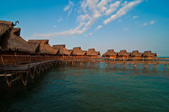 Bungalows in a romantic resort Stock Images