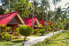 Bungalows in Thailand Stock Photo