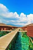 Bungalows tropicais da ?gua, Maldives Imagem de Stock Royalty Free