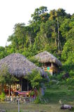 Bungalows in tropics Stock Photos
