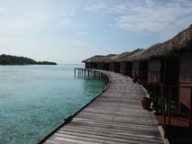 Bungalows. On the water Stock Photography