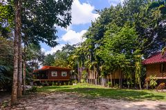 Bungalowsemesterort i Thailand Arkivfoton