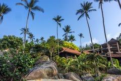 Bungalowwen in Coral Cove Beach, Koh Samui stock foto's