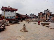 Bungamati废墟  图库摄影
