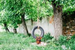 Bungee die van banden wordt gemaakt Stock Fotografie