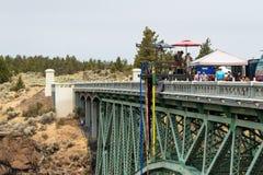Bungee doskakiwanie w Oregon Zdjęcie Royalty Free