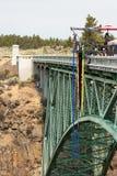 Bungee doskakiwanie w Oregon Fotografia Stock