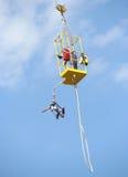 Bungee Jump. From a crane Stock Photos