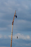 Bungee jump. From a crane Stock Images