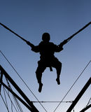 Bungee Jump Silhouette Stock Photo