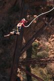 Bungee jumper #4. Bungee Jumper at Gouritz River Bridge, South Africa - Movement on Jumper Stock Image