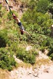 Bungee jumper #7. Bungee Jumper at Gouritz River Bridge, South Africa - Movement on Jumper Stock Photo