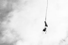 Bungee jumper Royalty Free Stock Images