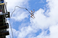 Bungee Jumper Jumping royalty free stock images