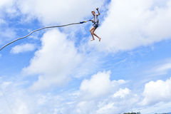 Bungee Jumper Sky Fun Stock Photography