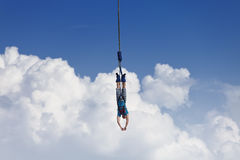 Bungee Jumping. DRESDEN - AUGUST 22: A bungee jumper at the City festival - August 22, 2010 in Dresden, Germany Stock Photo